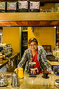 Sylvia Tan, one of the owners of the cafe, Coffee Stain in Kuala Lumpur.