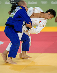 09-08-2016 BRA: Olympic Games day 4, Rio de Janeiro<br /> Takanori Nagase JAP pakt de bronze medaille -81 kg<br /> Photo by Ronald Hoogendoorn / Sportida