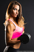 Thalita Pascual -Biceps curl- gym fitness photography shoot.
