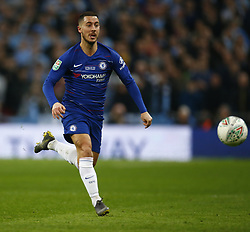 February 24, 2019 - London, England, United Kingdom - Chelsea's Eden Hazard.during during Carabao Cup Final between Chelsea and Manchester City at Wembley stadium , London, England on 24 Feb 2019. (Credit Image: © Action Foto Sport/NurPhoto via ZUMA Press)