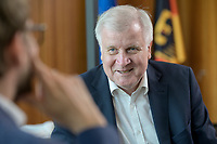 01 JUL 2019, BERLIN/GERMANY:<br /> Horst Seehofer, CSU, Bundesinnenminister, waehrend einem Interview, in seinem Buero, Bundesministerium des Inneren<br /> IMAGE: 20190701-01-016<br /> KEYWORDS: Büro