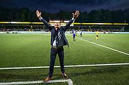 VENLO, VVV Venlo - SC Cambuur, voetbal, Jupiler League, seizoen 2016-2017, 5-8--2017, Seacon Stadion de Koel, VVV Venlo coach Maurice Steijn is blij met de overwinning.