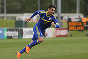 Ajdin Hasic of Bosnia and Herzegovina (10) races into the penalty box during the UEFA European Under 17 Championship 2018 match between Bosnia and Republic of Ireland at Stadion Bilino Polje, Zenica, Bosnia and Herzegovina on 11 May 2018. Picture by Mick Haynes.