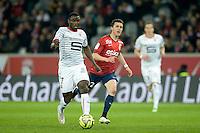 Paul Georges Ntep / Sebastien Corchia - 15.03.2015 - Lille / Rennes - 29e journee Ligue 1<br /> Photo : Andre Ferreira / Icon Sport