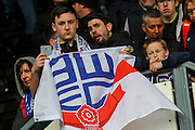 Bolton fans following their relegation after the Sky Bet Championship match between Derby County and Bolton Wanderers at the iPro Stadium, Derby, England on 9 April 2016. Photo by Aaron  Lupton.