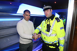 NCH Felons - Tommy Sheridan is arrested again, this time for Charity alongside other Glaswegian figures for a Jail and Bail event on behalf of Childrens Charity NCH.<br /> Tommy gets arrested in Sunset beach tanning Salon Argyle Street