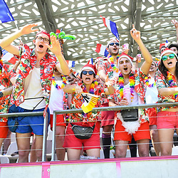 Fans of France during the match between France and Japan at the HSBC Paris Sevens, stage of the Rugby Sevens World Series on June 1, 2019 in Angers, France. (Photo by Sandra Ruhaut/Icon Sport)