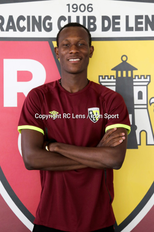Cyrille Bayala during photoshooting of RC Lens for new season 2017/2018 on October 5, 2017 in Lens, France<br /> Photo by RC Lens / Icon Sport