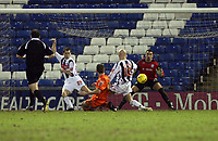 Photo: Rich Eaton.<br /> <br /> West Bromwich Albion v Luton Town. Coca Cola Championship. 12/01/2007. Keith Keane centre scores for Luton in the second half to make the score 1-1