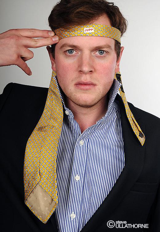Miles Jupp with School Tie..