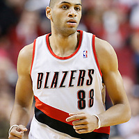 02 December 2013: Portland Trail Blazers small forward Nicolas Batum (88) is seen during the Portland Trail Blazers 106-102 victory over the Indiana Pacers at the Moda Center, Portland, Oregon, USA.
