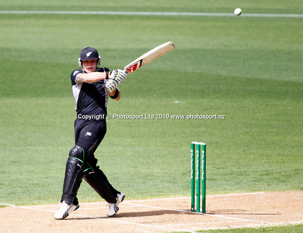 Blackcaps opener Brendon McCullum. 4th one day international. New Zealand Black Caps versus Australia one day Chappell Hadlee cricket series. Eden Park, Auckland, New Zealand. Thursday 11 March 2010. Photo: Simon Watts/PHOTOSPORT