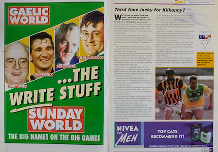 All Ireland Senior Hurling Championship - Final, .10.09.2000, 09.10.2000, 10th September 2000, .10092000AISHCF,.Senior Kilkenny v Offaly,.Minor Cork v Galway,.Kilkenny 5-15, Offaly 1-14, .Sunday World, Nivea for men,