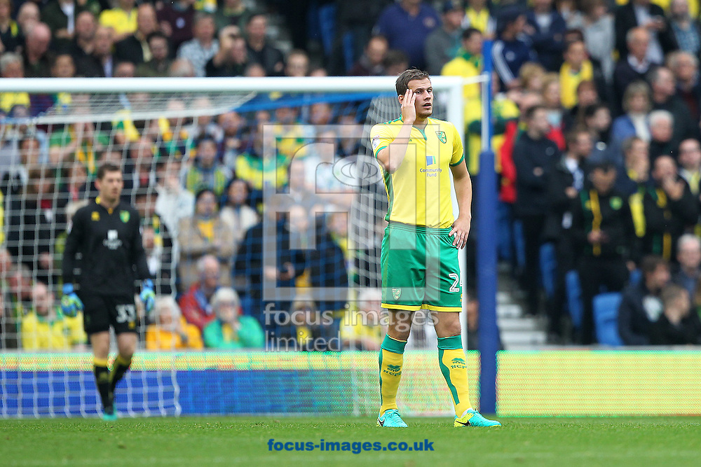 Ryan Bennett of Norwich looks dejected after his side concedes it&rsquo;s 1st goal during the Sky Bet Championship match at the American Express Community Stadium, Brighton and Hove<br /> Picture by Paul Chesterton/Focus Images Ltd +44 7904 640267<br /> 29/10/2016
