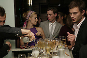 Maggie Grace and Eddie Redmayne, Natalia Vodianova and Elle Macpherson host a dinner in honor of Francisco Costa (creative Director for women) and Italo Zucchelli (creative director for men)  of Calvin Klein. Locanda Locatelli, 8 Seymour St. London W1. ONE TIME USE ONLY - DO NOT ARCHIVE  © Copyright Photograph by Dafydd Jones 66 Stockwell Park Rd. London SW9 0DA Tel 020 7733 0108 www.dafjones.com