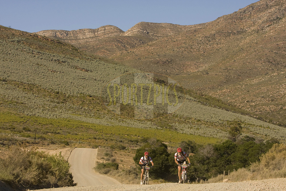 WESTERN CAPE, SOUTH AFRICA -  30 March 2008, The start of the Karoo during stage two of the 2008 Absa Cape Epic Mountain Bike stage race from Saasveld Campus Nelson Mandela Metropolitan University in George to Calitzdorp Spa, Calitzdorp in the Western Cape, South Africa...Photo by Karin Schermbrucker/SPORTZPICS