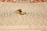 Jewish wedding ceremony The ketubah (prenuptial agreement) and wedding rings