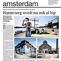 Parool 7 mei 2013: Hamerweg wordt nu ook al hip