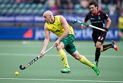 Hockey World Cup 2014<br /> The Hague, Netherlands <br /> Day 5- Men Australia v Belgium<br /> Glenn Turner<br /> <br /> Photo: Grant Treeby<br /> www.treebyimages.com.au