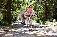 Teens Biking on Road
