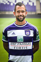 Anderlecht's Steven Defour pictured during the 2015-2016 season photo shoot of Belgian first league soccer team RSC Anderlecht, Tuesday 14 July 2015 in Brussels.