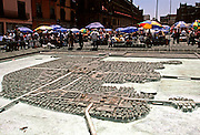 MEXICO, MEXICO CITY, ZOCALO model of Aztec Tenochtitlan in Lake