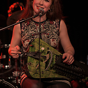Patty Gurdy is from Germany performs at The Lexington, Pentonville Rd, Islington,on 21 July 2019,  London, UK.