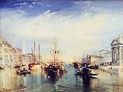 The Grand Canal, Venice'  1835: Joseph Mallord Willliam Turner (1775-1851) English artist. Oil on canvas.