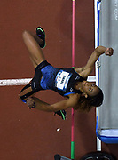 Mar 3, 3017; Albuquerque, NM, USA; Barbara Nwaba  clears 5-11 1/4 (1.81m) in the pentathlon high jump during the USA Indoor Track and Field championships at the Albuquerque Convention Center.
