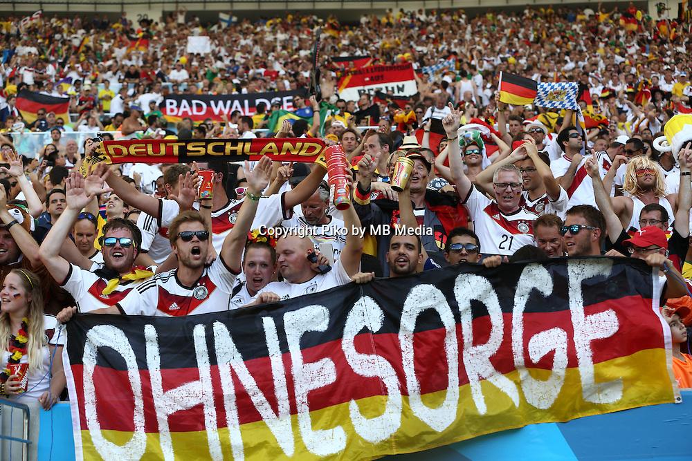 Fifa Soccer World Cup - Brazil 2014 - <br /> FRANCE (FRA) Vs. GERMANY (GER) - Quarter-finals - Estadio do Maracana Rio De Janeiro -- Brazil (BRA) - 04 July 2014 <br /> Here German fans.<br /> &copy; PikoPress