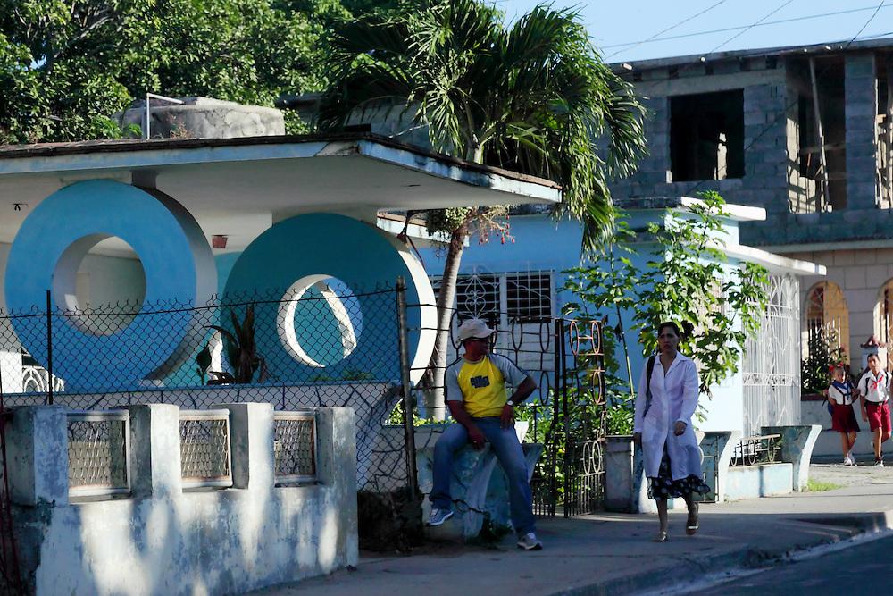 Houses in Las Tunas city, Las Tunas, Cuba.