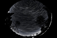 Night Sky Over New Jersey. Composite of images (18:00-18:59)  taken with a Nikon D850 camera and 8-15 mm fisheye lens (ISO 800, 10 mm, f/5.6, 30 sec).