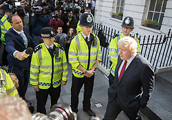 © Licensed to London News Pictures. 24/06/2016. London, UK. Boris Johnson leaves home after the UK EU referendum result was announced with a victory for the leave campaign. Photo credit: Peter Macdiarmid/LNP