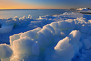 Ice along the shore of Lake Winnipeg in spring<br /> Winnipeg Beach<br /> Manitoba<br /> Canada