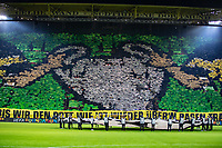 Football - 2018 / 2019 UEFA Champions League - Round of Sixteen, Second Leg: Borussia Dortmund (0) vs. Tottenham Hotspur (3)<br /> <br /> The Yellow wall at the begining of the Champions League Anthems at Signal Iduna Park (Westfalenstadion).<br /> <br /> COLORSPORT/DANIEL BEARHAM