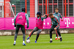 14.03.2019, Säbener Strasse, Muenchen, GER, 1. FBL, FC Bayern Muenchen vs 1. FSV Mainz 05, Training, im Bild v.l. Alphonso Davies (FC Bayern), Renato Sanches (FC Bayern), Lars Lukas Mai (FC Bayern), Leon Goretzka (FC Bayern) // during a trainings session before the German Bundesliga 26th round match between FC Bayern Muenchen and 1. FSV Mainz 05 at the Säbener Strasse in Muenchen, Germany on 2019/03/14. EXPA Pictures © 2019, PhotoCredit: EXPA/ Lukas Huter