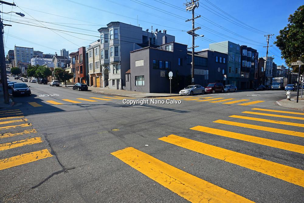 Crosswalks in San Francisco, California.