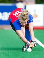 BILTHOVEN - Marise Jongepier van SCHC , zondag tijdens de hoofdklasse competitiewedstrijd tussen de vrouwen van SCHC en MOP (5-0). COPYRIGHT KOEN SUYK