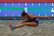 Maryna Bekh-Romanchuk (Ukraine) Women's Long Jump  during the IAAF Diamond League event at the King Baudouin Stadium, Brussels, Belgium on 6 September 2019.