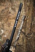 Hunters created stickers they put on their shotgun barrels advertising their company Quack Kills.