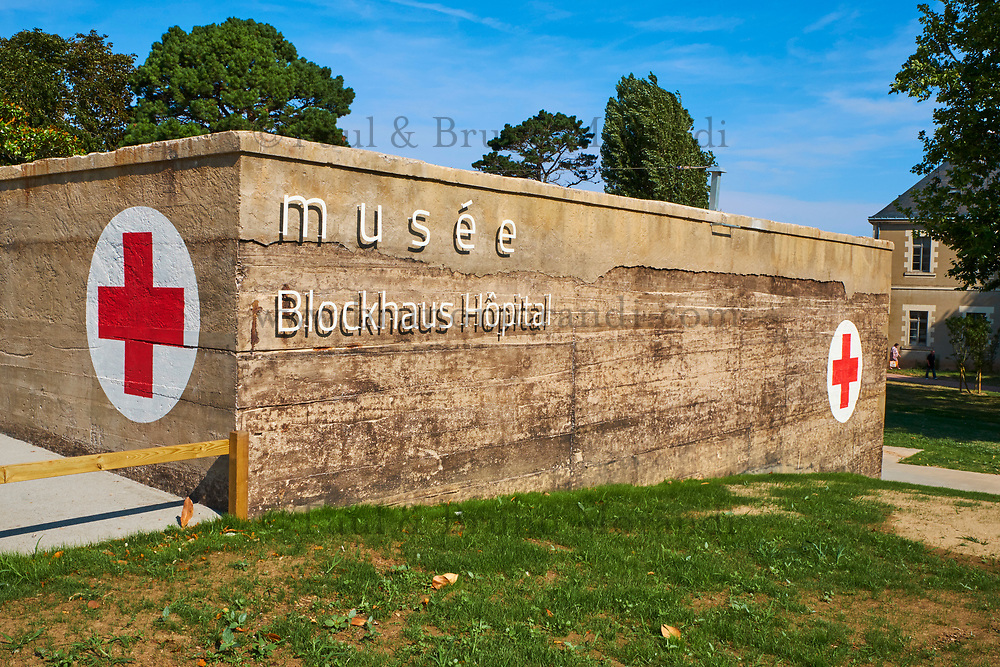 France, Vendée (85), Les Sables-d'Olonne, musée Blockhaus Hopital // France, Vendée, Les Sables-d'Olonne, Blockhaus Hospital museum