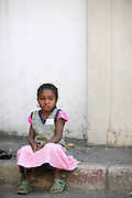 No. 323, Kanto Tendrinihasina, female, 5 years old, UCL, before, Waiting in the que for screening. Operation Smile South Africa.Operation Smile Mission to Hospital Joseph Ravoanangy Andrianavalona,.Antananarivo, Madagascar. September 17th - 29th 2011..© Operation Smile Photo / Zute & Demelza Lightfoot.www.lightfootphoto.com