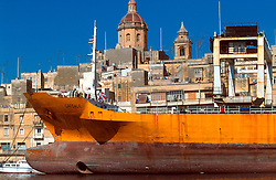 MALTA VALETTA JUL00 - Partial view of a freight ship in the port of Marsa.....jre/Photo by Jiri Rezac....© Jiri Rezac 2000....Tel:   +44 (0) 7050 110 417..Email: info@jirirezac.com..Web:   www.jirirezac.com