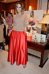 LOUISE ROE at a party to celebrate the publication of Front Roe by Louise Roe held at Ralph Lauren, 1 New Bond Street, London on 1st April 2015.