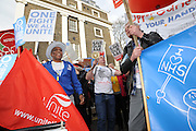 London, England. 4th March, 2017. <br /> This demonstration was organised by Health Campaigns Together and The People's Assembly, as a show of support for The National Health Service.<br /> Kevin Hayes/Alamy Live News