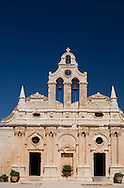The ornate Venetain facade of the Arkadhi Monastery ( Moni Arkadhi)<br /> twenty-five miles from Rethymnon, Crete, Greece