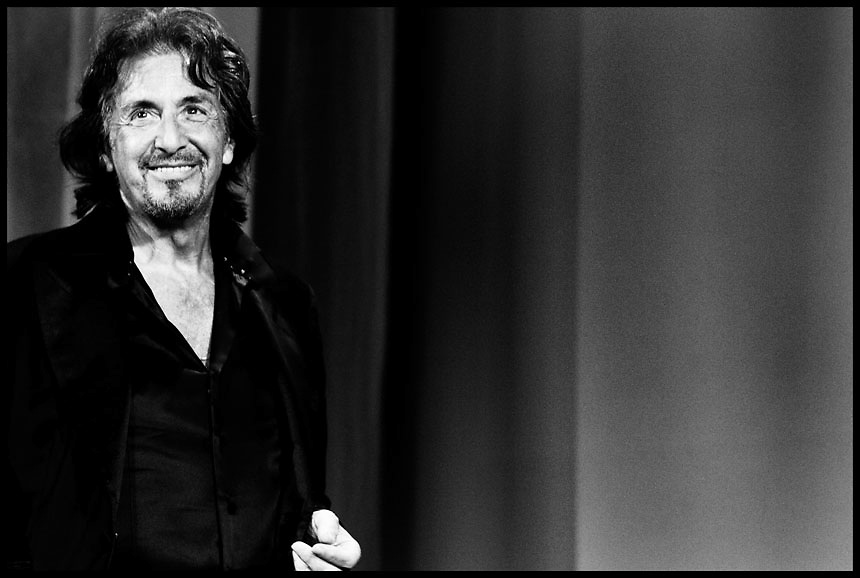 Al Pacino receives the Jaeger LeCoultre glory to the filmmaker award  during the 68th International Venice Film Festival