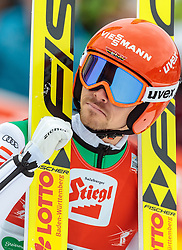 18.12.2016, Nordische Arena, Ramsau, AUT, FIS Weltcup Nordische Kombination, Skisprung, im Bild Fabian Riessle (GER) // Fabian Riessle of Germany reacts during Skijumping Competition of FIS Nordic Combined World Cup, at the Nordic Arena in Ramsau, Austria on 2016/12/18. EXPA Pictures © 2016, PhotoCredit: EXPA/ JFK