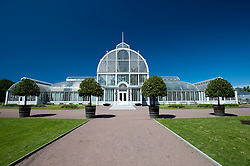 Glasshouses at Tradgardsforeningen Park in Gothenburg Sweden