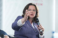 13 JUN 2017, BERLIN/GERMANY:<br /> Andrea Nahles, SPD, Bundesarbeitsministerin, Jahreskonferenz, Wirtschaftsforum der SPD, Humboldt-Box<br /> IMAGE: 20170613-01-345